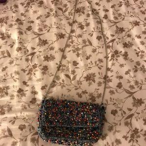 Hand Beaded Multicolored Crossbody Bag